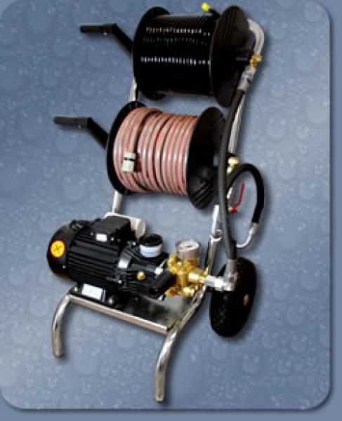 HOCHDRUCK ROHRREINIGUNGSGERÄT HD-2500, 230 VOLT/50 HZ, 130 BAR - 12 L / MIN.